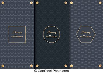 Dark backgrounds with gold elements - Collection of dark...