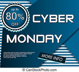Dark banner for Cyber Monday. Sale