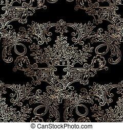 Dark baroque vector seamless
