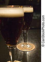 Dark Beer - Two 0.3 litre glasses of dark German beer