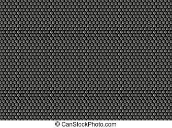 dark bee's honeycomb illustration
