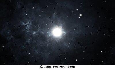 Dark Black Deep Hole Galaxy And Particle Star Camera Flying ...