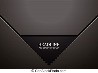 Dark black hi-tech corporate vector design - Dark black...