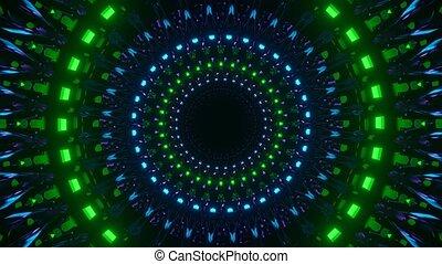 dark blinking reflection neon tunnel vj loop fly through in 4k uhd 60fps,