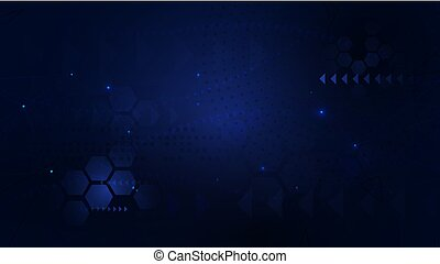 Dark blue abstract geometric futuristic digital hi technology concept background