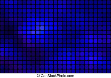 Dark blue abstract rounded mosaic background over black