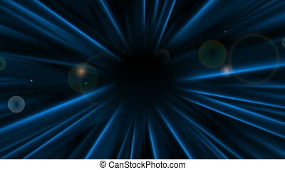Dark blue abstract smooth rays video animation