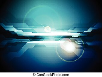 Dark blue abstract technology background