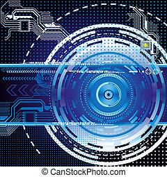 Dark blue abstract technology