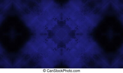 Dark blue and black science fiction abstraction loop -...