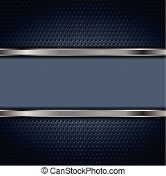 Dark blue and metallic tech background