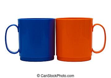Dark blue and orange mug