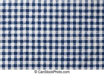 Dark Blue and White Checked Napkin Pattern Background