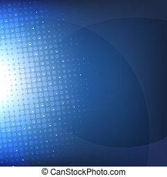 Dark Blue Background With Blur, Vector Illustration