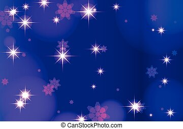 Dark blue background with highlights and stars. vector