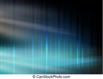 dark blue background with numbers and rays of light