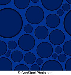 Dark blue background with round shapes, seamless