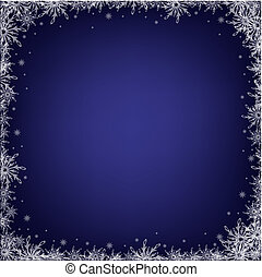 Dark Blue Background With Snowflakes