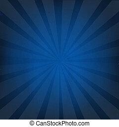 Dark Blue Background With Sunburst, With Gradient Mesh,...
