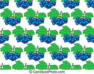 Dark blue berry seamless pattern