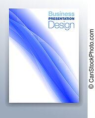 Dark Blue Business Presentation Design Background