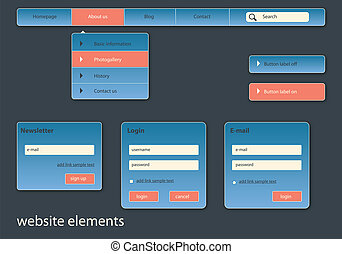 business website elements
