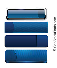dark-blue, buttons., high-detailed, modern, web