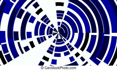 Dark blue circles from fragments. W