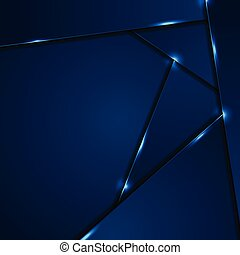 Dark blue corporate background with glowing lines