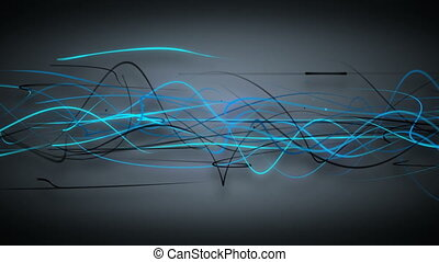 dark blue curved lines loop background