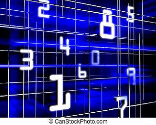 Futuristic numerals