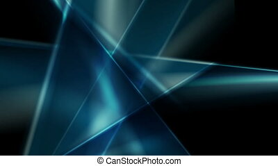 Dark blue glossy glowing abstract video animation - Dark...