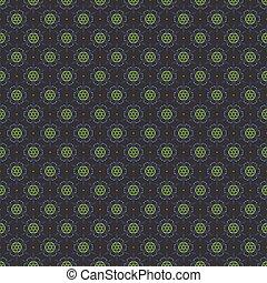 Dark Blue Green Seamless Pattern