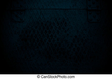 dark blue grunge Steel mesh screen background and texture