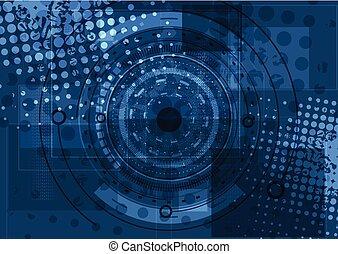 Dark blue grunge technology background