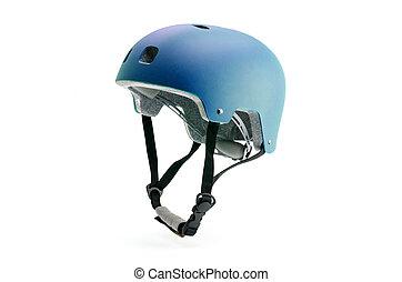 Dark blue helmet isolated