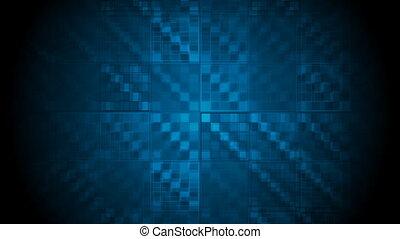 Dark blue hi-tech geometric video animation - Dark blue...