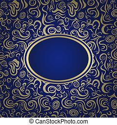 Dark Blue Invitation Card
