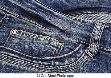 Dark blue jeans background
