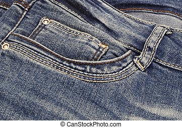 Dark blue jeans background