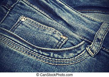 Dark blue jeans vintage texture