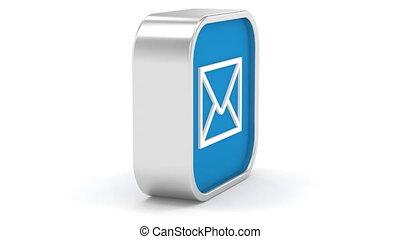 Dark Blue Mail Sign