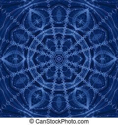 Dark Blue Mandala Flower
