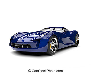 Dark blue modern sports concept car