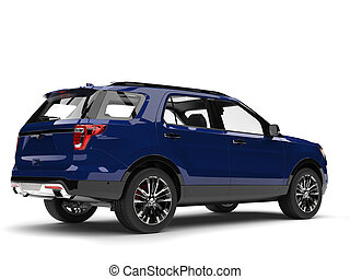 Dark blue modern SUV - back side view