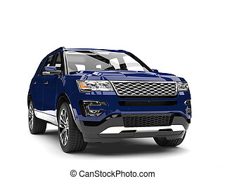 Dark blue modern SUV - front view