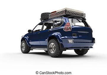 Dark Blue Modern SUV