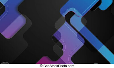 Dark blue purple abstract tech corporate motion design....