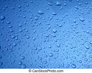 Dark blue rain drops