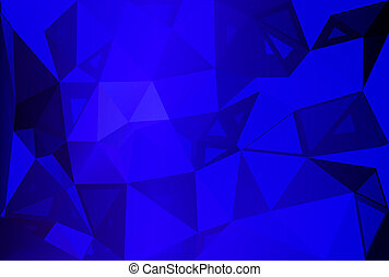 Dark blue random sizes low poly background